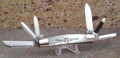 Fight'n Rooster PROTOTYPE 6 Blade MOTHER OF PEARL CONGRESS Knife! SUPER RARE!