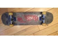 "Skateboard (full set), width 7 3/4"", low use + almost brand new trucks (NERVOUS Sp12 ICON Roy/Sil)"