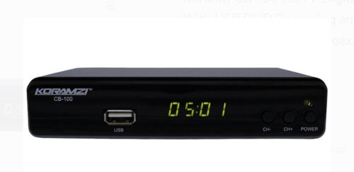 KORAMZI CB-100 HDTV Digital TV Converter Box ATSC With USB DVR Recording