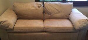 Moran lounge-nubuck leather lounge. Bondi Eastern Suburbs Preview