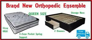 QUEEN Size Bed Orthopedic Ensemble - Mattress + Base DELIVERED!!! New Farm Brisbane North East Preview