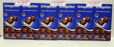 Schogetten Alpine Milk Chocolate 18 Pieces/Bar 3.5oz 100g (6 Bars)