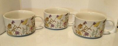 Vintage Nature Garden Society Fine China Cup/ Soup Bowl by Enesco Dated 1975