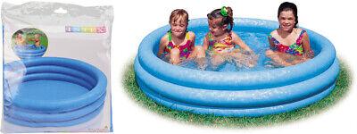Intex 3 Ring Crystal Blue Paddling Pool Kids Swimming Pool Childrens Play Pool