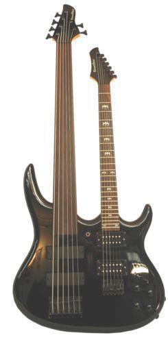 double neck guitar bass ebay. Black Bedroom Furniture Sets. Home Design Ideas