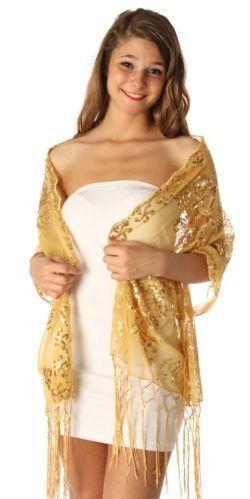 Gold Sequin Scarf Scarves Amp Wraps Ebay