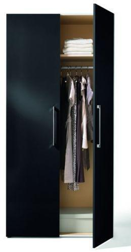 Garderobe schwarz hochglanz m bel wohnen ebay for Garderobe schwarz