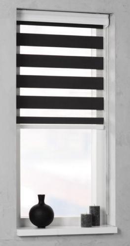 doppelrollo schwarz rollos ebay. Black Bedroom Furniture Sets. Home Design Ideas