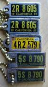 California License Plates 1952