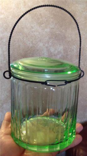 Rare Green Depression Glass Ebay