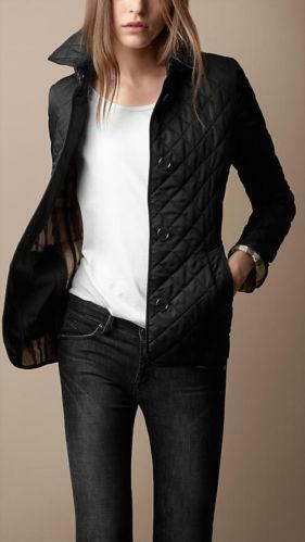 Burberry Black Quilted Jacket Small Ebay