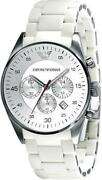 White Armani Mens Watches