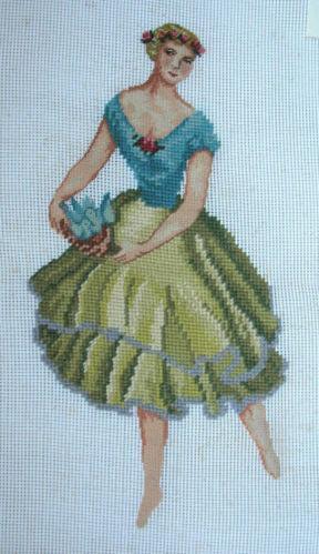 Woman Needlepoint Canvas Ebay