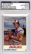 Jim Palmer Signed Card