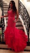 Corset Back Prom Dress