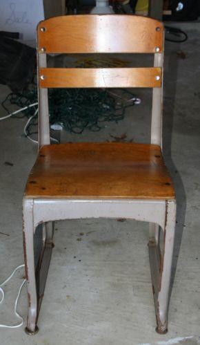 vintage school chair ebay