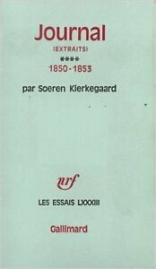 Journal 1850-1853 Par Soeren Kierkegaard