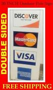 Visa Mastercard Sign