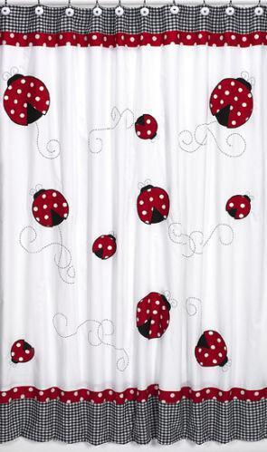 Black White Red Shower Curtain EBay