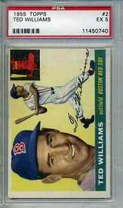 1955-Topps-Ted-Williams-2-PSA-Graded-5-EX-Boston-Red-Sox
