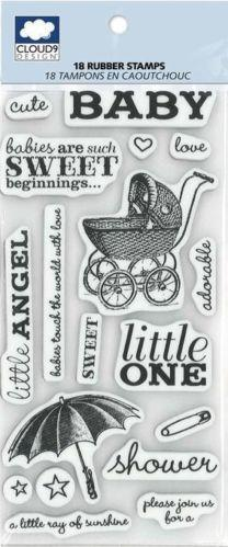 baby shower rubber stamps ebay