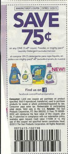 All Detergent Coupons Ebay