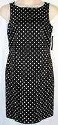 Womens Black Polka Dot Dress