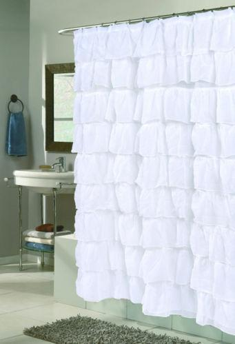 Ruffle Shower Curtain | eBay