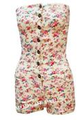Floral Denim Playsuit