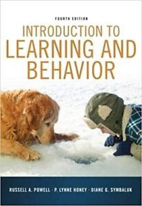 Introduction to Learning and Behavior 4th Edition Powell, Honey