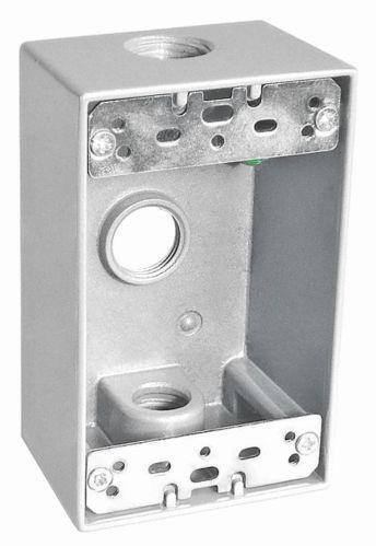 Outdoor electrical box ebay for Exterior electrical outlet box