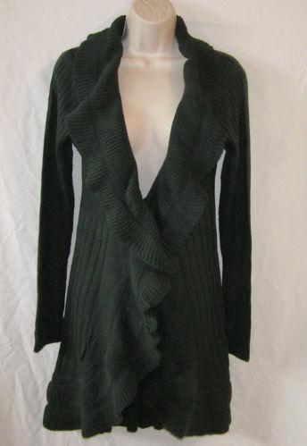 Ruffle Sweater Coat Ebay