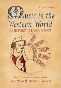 """Selling """"Music in the Western World"""" – Weiss & Taruskin London Ontario image 1"""