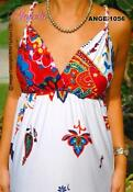 Blue Red White Maxi Dress