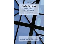 Land Law (third edition) by McFarlane, Hopkins and Nield