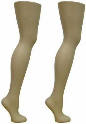 Female Full Round Plastic Mannequin Legs For Display Hosiery Sox Sock 2pack