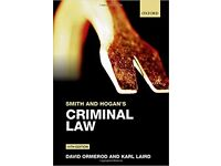 Smith and Hogan's Criminal Law 14th Edition
