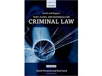 Smith and Hogan Criminal Law: Text and Materials 11th edition