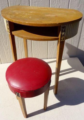 Vintage Vanity Stool Ebay