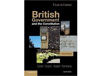 British Government and the Constitution: Text and Materials (Law in Context) 7th Edition