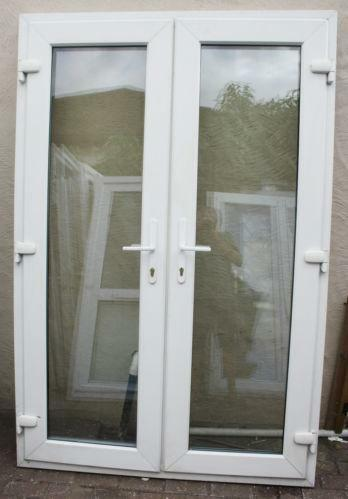 Used White Upvc French Doors Ebay