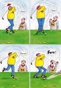 Postcards Golf Comic