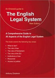 The English Legal System-New Edition by Anthony Chadwick-Paperback