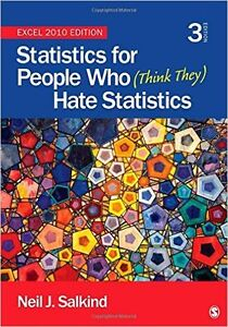 Statistics for People Who (Think They) Hate Statistics: Excel 20