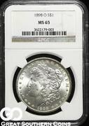 1898 Morgan Silver Dollar MS 65