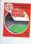 Southampton V Manchester United