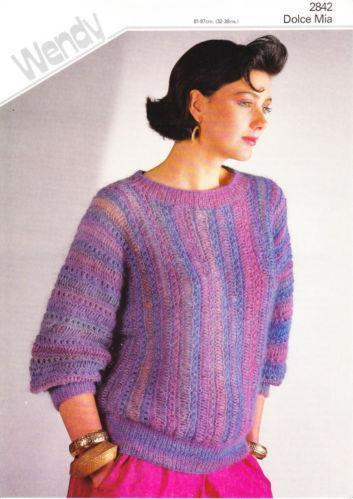 Knitting Pattern Batwing Jumper Ebay