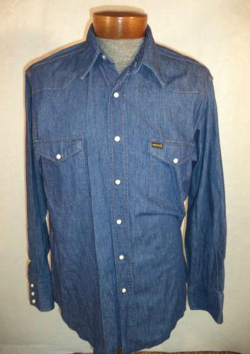 Mens Denim Chambray Shirt