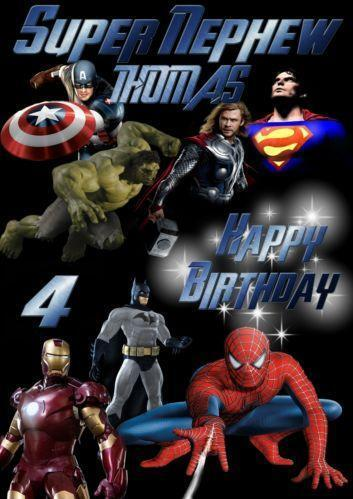 superhero birthday card  ebay, Birthday card