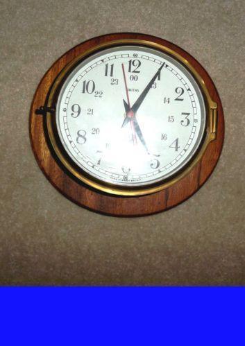 Brass Ships Clock Ebay